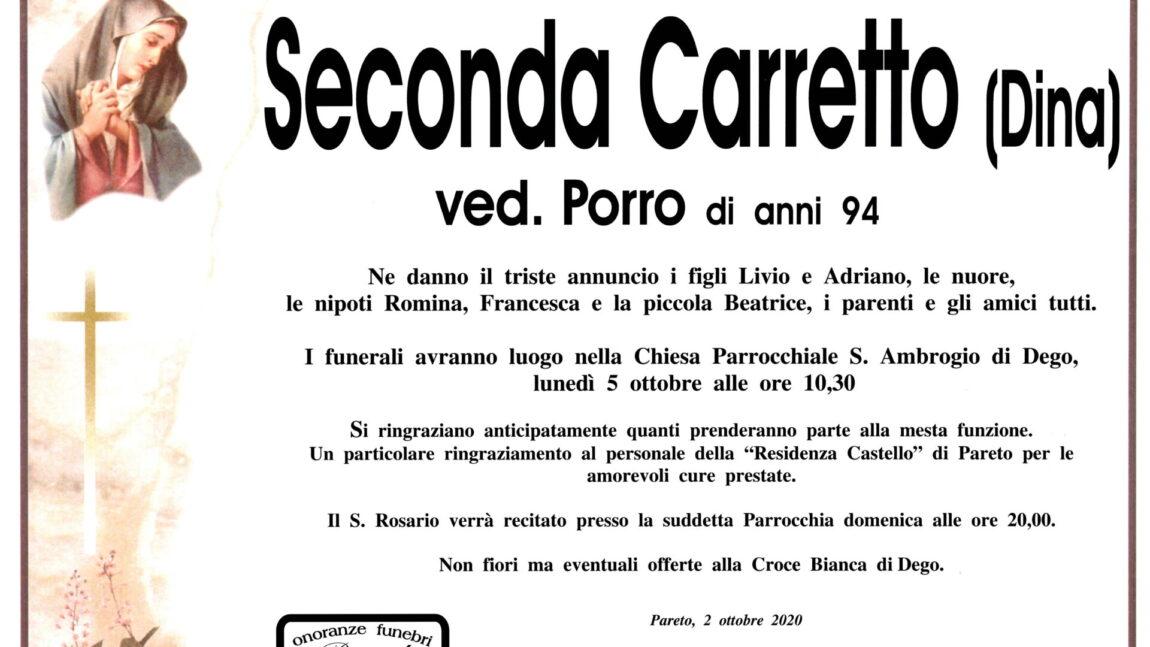 Seconda Carretto ved. Porro